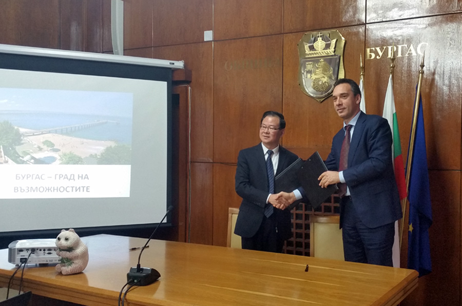 Agreement for cooperation and exchange between Burgas and the Chinese city of Shaoxing