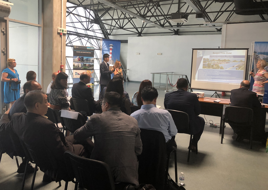 Delegation from the Pilot Shanghai Free Trade Zone, China, visited Burgas